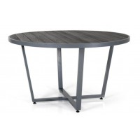 Leone стол круглый d130см, серый